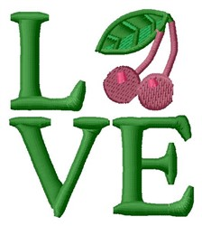 Love Cherry embroidery design