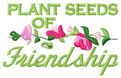 Plant Friendship embroidery design