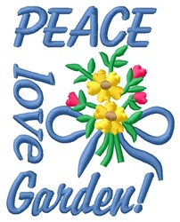 Peace Garden embroidery design