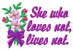 Loves Not embroidery design