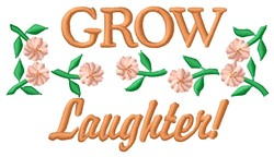 Grow Laughter embroidery design