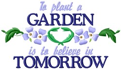 Garden Tomorrow embroidery design