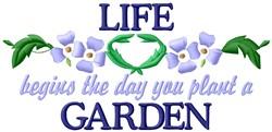 Life Garden embroidery design