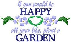 Happy Garden embroidery design