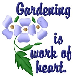 Gardening Heart embroidery design