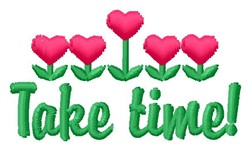 Take Time embroidery design