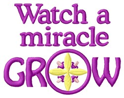 Miracle Grow embroidery design