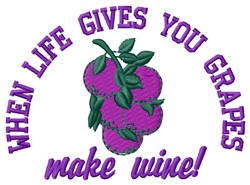Gives You Grapes embroidery design