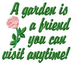 Garden Friend embroidery design