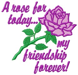 Friendship embroidery design