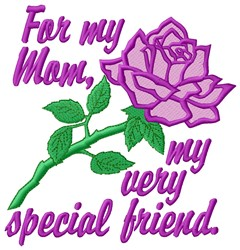 For Mom embroidery design