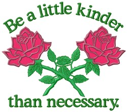 Be Kinder embroidery design