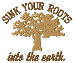 Sink Roots embroidery design