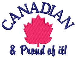 Proud Canadian embroidery design