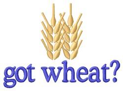Got Wheat embroidery design