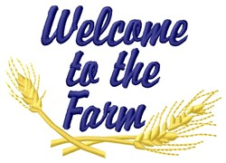 Welcome To Farm embroidery design