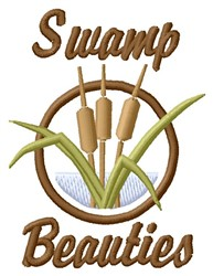 Swamp Beauties embroidery design