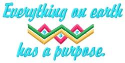 A Purpose embroidery design
