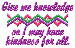 Kindness For All embroidery design