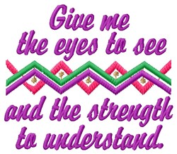 Give Me Eyes embroidery design