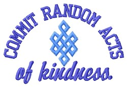 Random Acts embroidery design