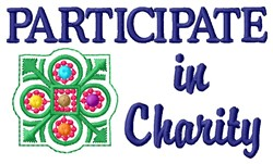 Participate Charity embroidery design