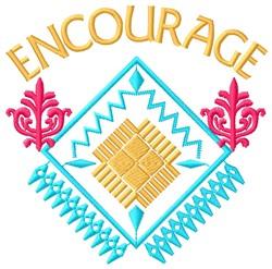 Encourage embroidery design