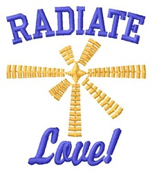 Radiate Love embroidery design