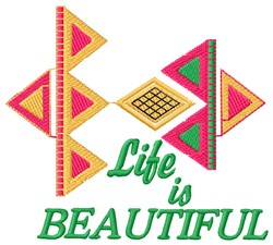 Beautiful Life embroidery design