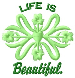 Life Beautiful embroidery design