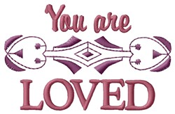 Are Loved embroidery design