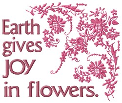 Earth Joy embroidery design