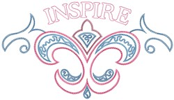 Inspire embroidery design