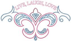 Live Laugh embroidery design