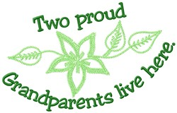 Proud Grandparents embroidery design
