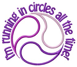 Running In Circles embroidery design