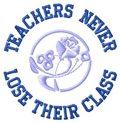 Teachers Class embroidery design