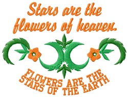Stars Are Flowers embroidery design