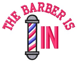 Barber In embroidery design