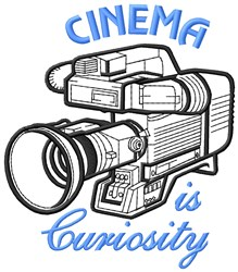 Cinema Curiosity embroidery design
