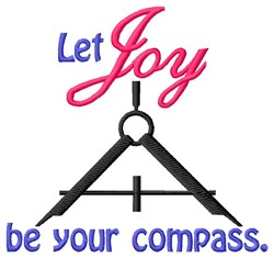 Joy Be Compass embroidery design