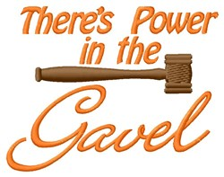 Gavel Power embroidery design