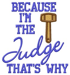 Im The Judge embroidery design