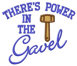 Power In Gavel embroidery design