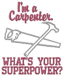 Carpenter Superpower embroidery design