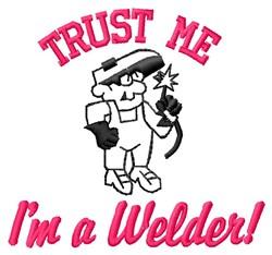 Trust Me embroidery design