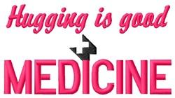 Hugging Medicine embroidery design