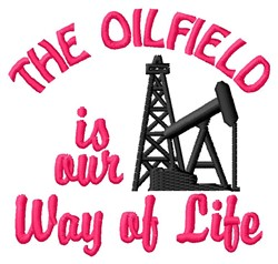The Oilfield embroidery design