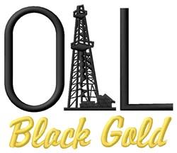Black Gold embroidery design