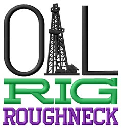 Rig Roughneck embroidery design